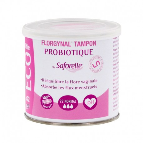 Saforelle Florgynal probiotique normal 22 tampons