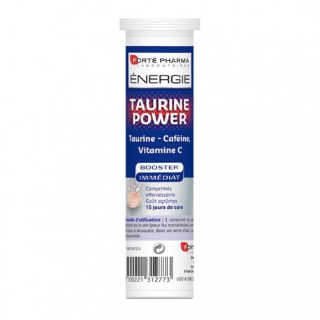 Forté pharma énergie taurine power 15 comprimés effervescents