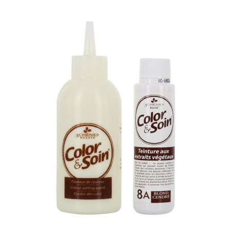 3 chênes color & soin coloration 8a blond cendré 135ml