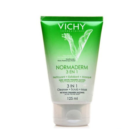 Vichy normaderm 3 en 1 nettoyant+exfoliant+masque 125ml