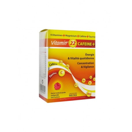 Ineldea vitamin' 22 cafeine 14 sticks