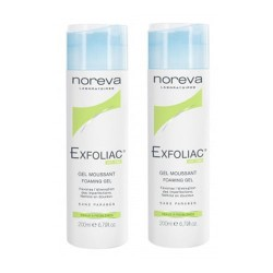 Noreva exfoliac gel moussant 2 X 200ml