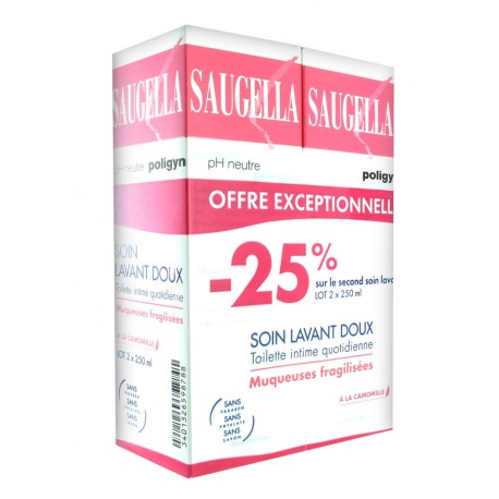 Saugella Poligyn Lot de 2 x 250 ml