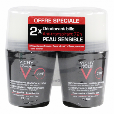 vichy d odorant anti transpirant bille 50ml x2. Black Bedroom Furniture Sets. Home Design Ideas