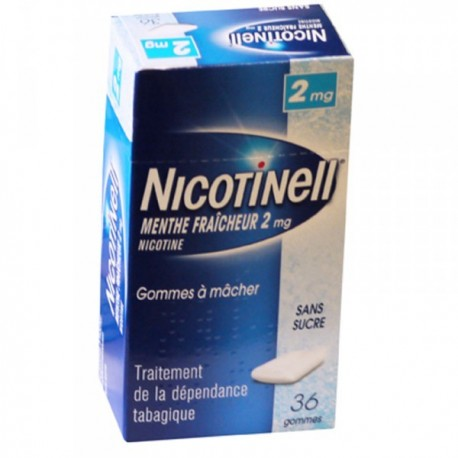 Nicotinell Menthe Fraicheur 2 mg sans sucre 36 gommes