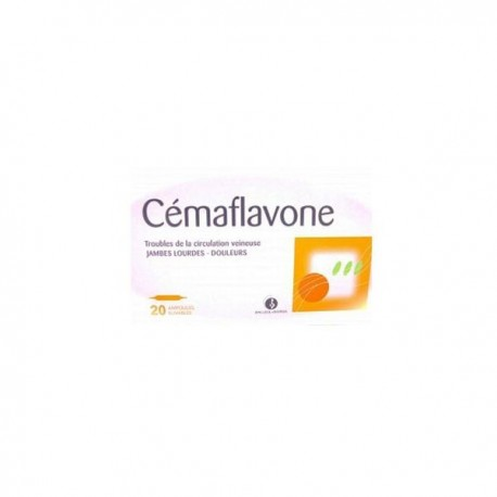 Cemaflavone circulation veineuse 10 ml 20 ampoules