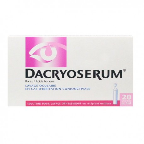 Dacryoserum Solution Pour Lavage Ophtalmique 20 Récipients Unidoses de 5ml