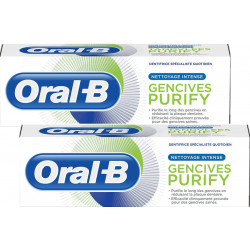 Oral-B gencives purify nettoyage intense dentifrice 2x75ml