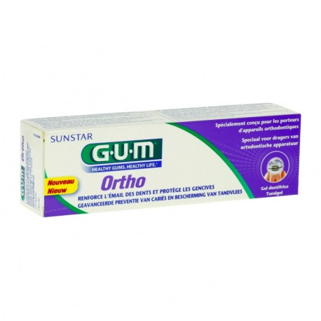 Gum ortho gel dentifrice 75ml