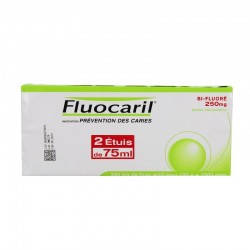 Fluocaril Bifluore 250mg Menthe pâte dentifrice 2x 75ml