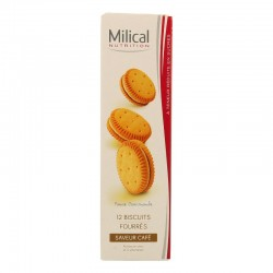 Milical nutrition saveur café 12 biscuits
