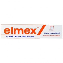 Elmex dentifrice compatible homéopathie 75ml
