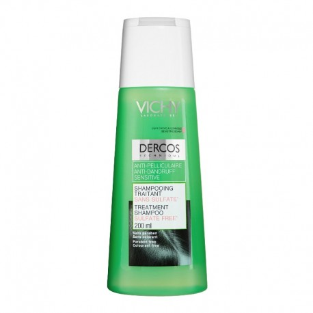 vichy dercos shampooing antipelliculaire sensitive 200ml